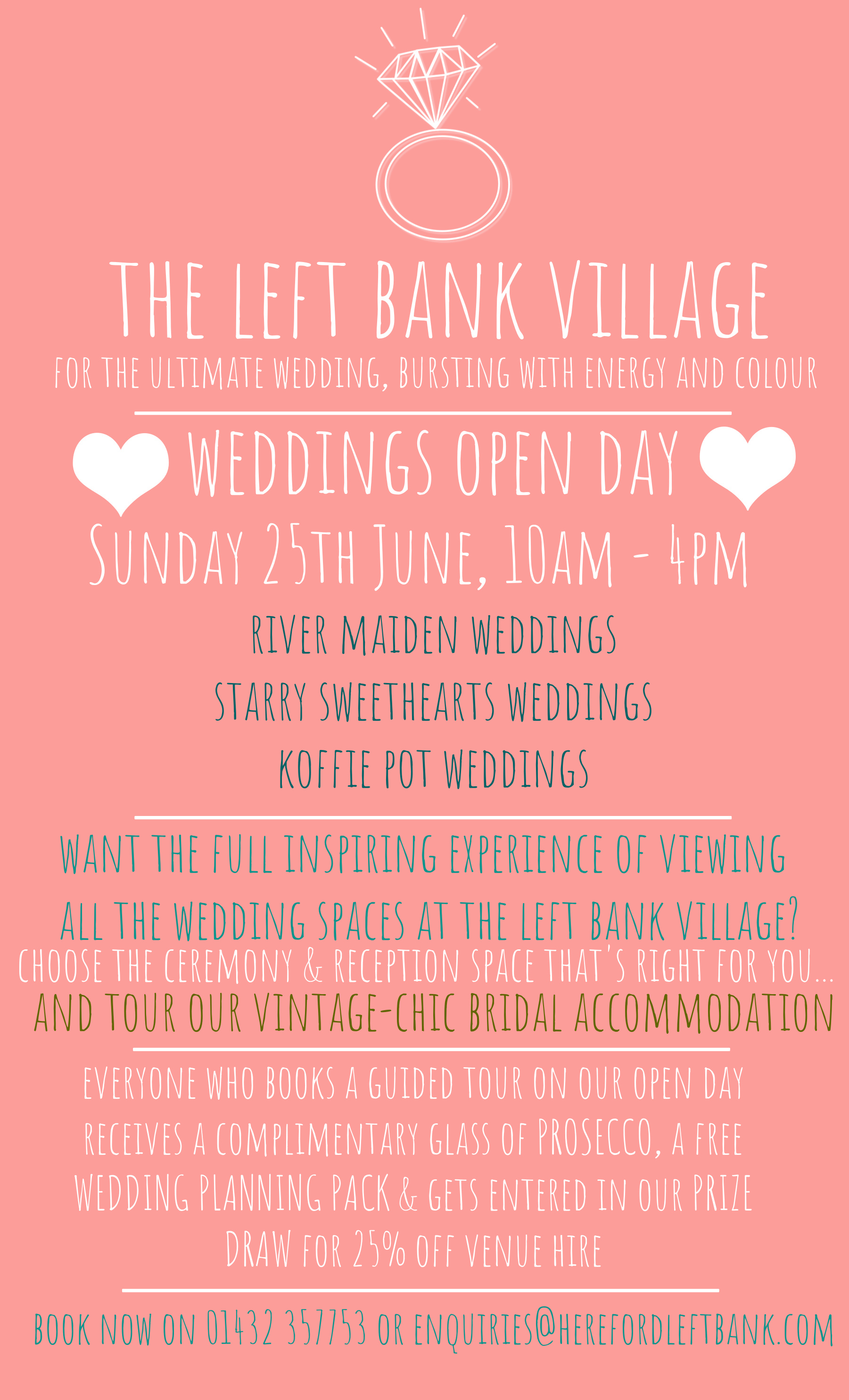 Weddings Open Day @ The Left Bank Village