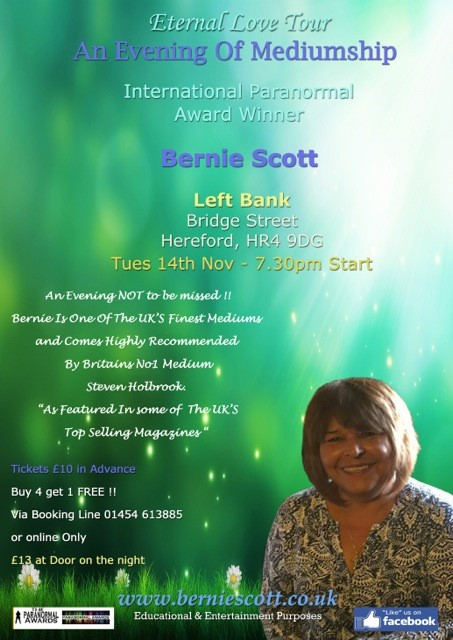 Left Bank Village - An Evening of Mediumship with Bernie Scott