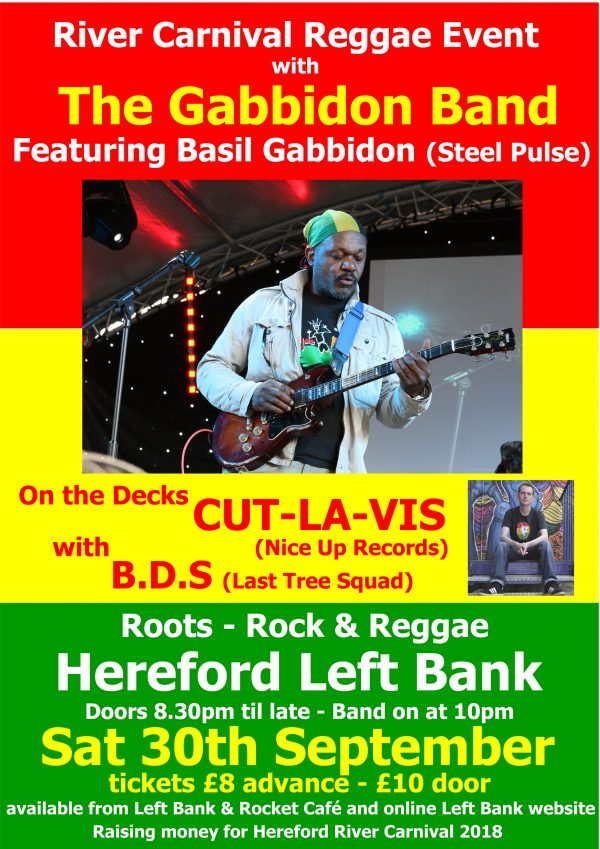 River Carnival Reggae Event with The Gabbidon Band @ The Left Bank Village | England | United Kingdom
