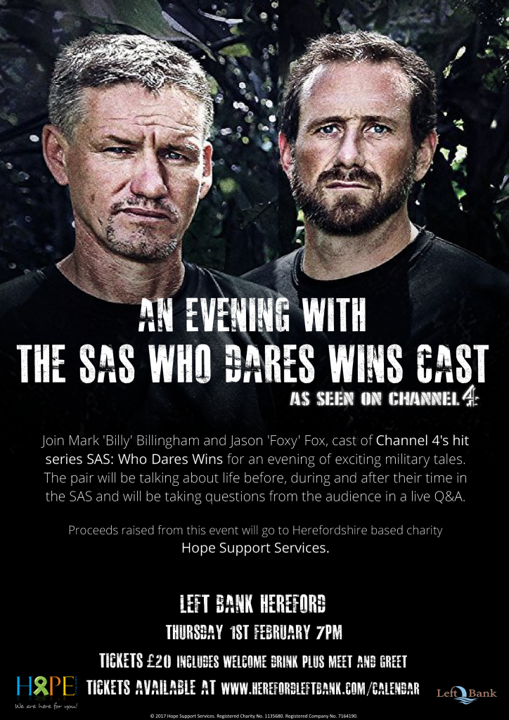 The Left Bank Village - An Evening with SAS 'Who Dares Wins' cast