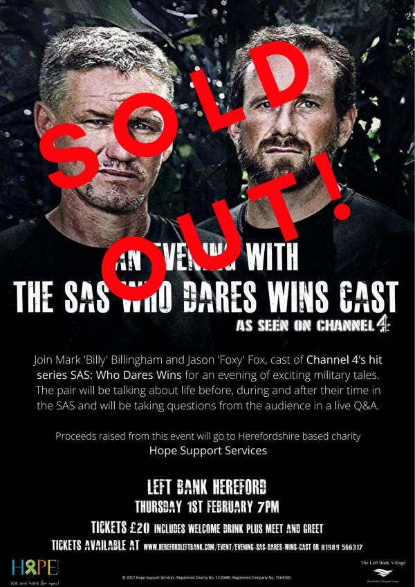 An Evening with the SAS 'Who Dares Wins' Cast @ The Left Bank Village | England | United Kingdom