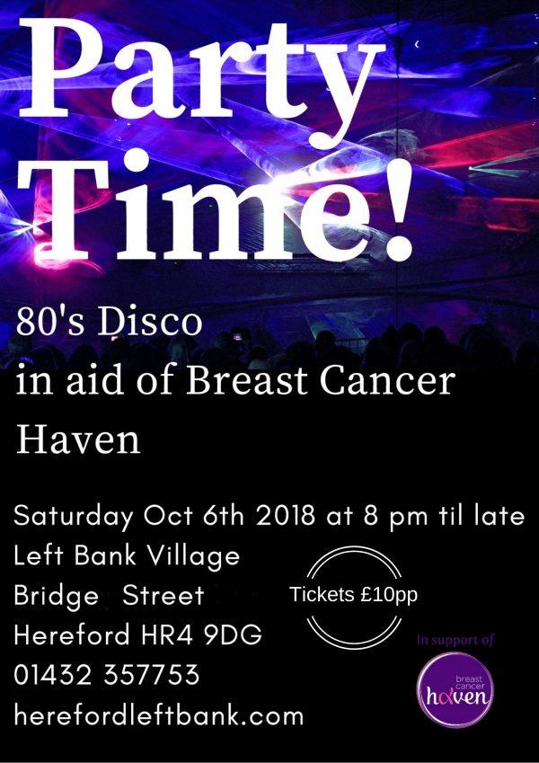 Breast Cancer Haven 80's Disco @ The Left Bank Village | England | United Kingdom