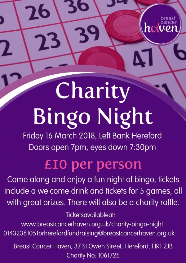 The Left Bank Village - Breast Cancer Haven Charity Bingo Night