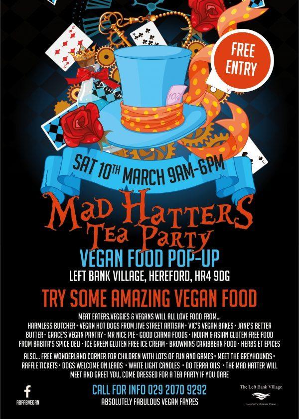 Mad Hatters Vegan Pop Up Tea Party The Left Bank Village