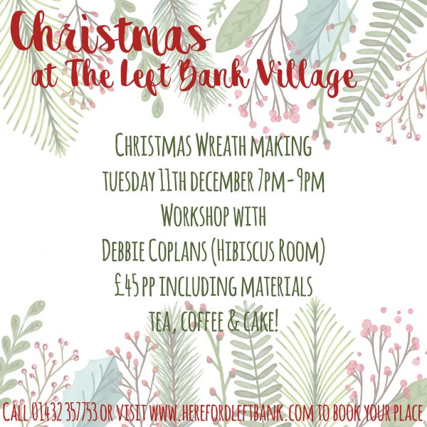 Wreath Making Workshop The Left Bank Village