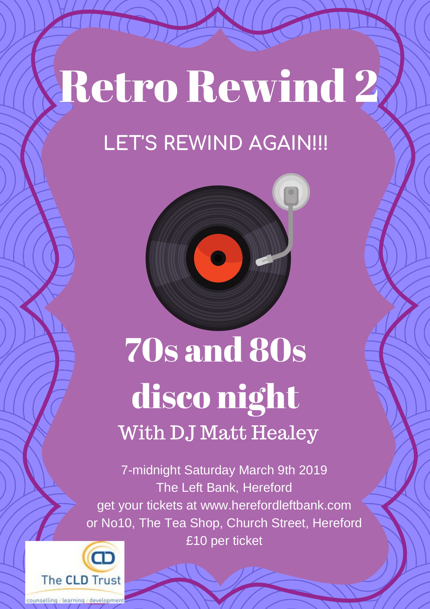 Retro Rewind 2 with DJ Matt Healey on 9th March 2019 at The Left Bank
