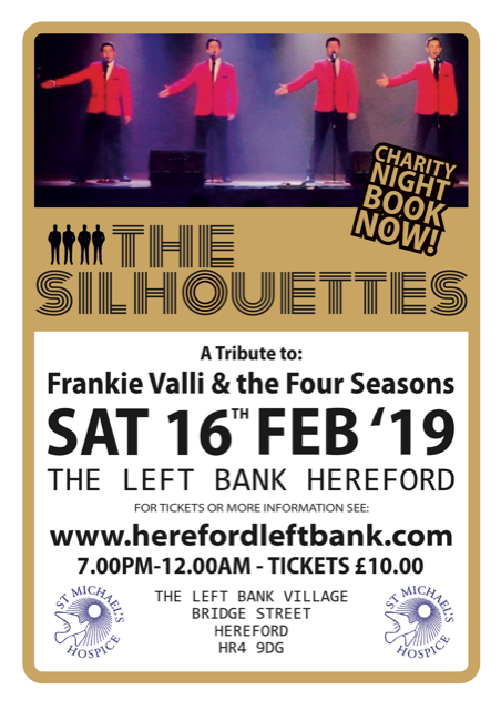 The Silhouettes event for sat 16th Feb