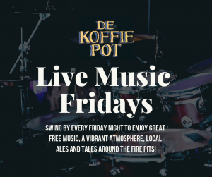 Live Music every friday at De Koffie Pot