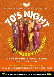 70s Night with DJ Roddy Hankins