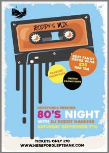 80s Night with DJ Roddy Hankins