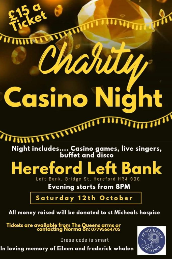 Charity Casino Night 12th October