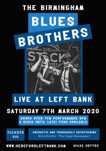 The Birmingham Blues Brothers Tribute Act @ Ground Floor, Left Bank