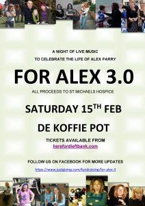 A night of live music For Alex 3.0 @ De Koffie Pot